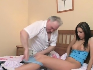 Cute Daddy Daughter Old and Young Small Tits Teen