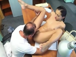 Brunette Cute Daddy Doctor Licking  Old and Young Small Tits
