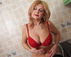 Amateur Amazing Big Tits Blonde Lingerie Masturbating Mature Natural