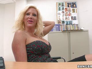 Amazing Big Tits Blonde Casting  Office Boobs