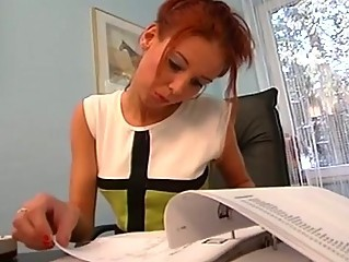Cute Office Redhead Secretary Teen