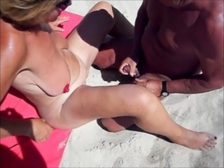 Beach Big Tits   Wife