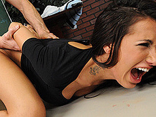 Brunette Doggystyle Forced Hardcore Student Tattoo Teacher College