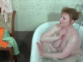 Bathroom  Big Tits Mature Mom Russian Stepmom