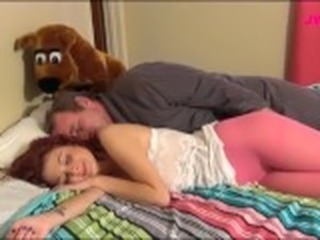 Daddy Daughter Cute Old and Young Sleeping Teen Daddy