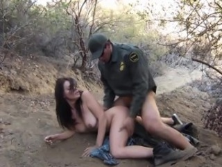 Amazing Army Babe Doggystyle Latina Outdoor Teen Uniform