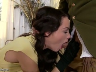 Amazing Babe Blowjob Brunette European Italian