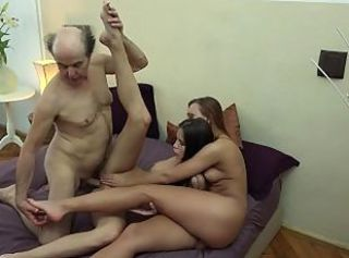 Cute Daddy Daughter Family Hardcore Old and Young Sister Teen Threesome Grandpa
