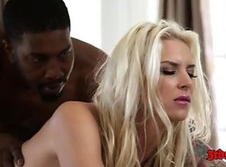 Amazing Babe  Blonde Doggystyle Interracial Monster