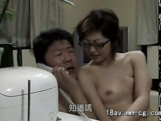 Asian Daddy Daughter Family Glasses Japanese Old and Young Teen Family