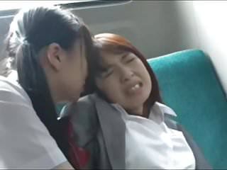 Asian Bus Forced Japanese Lesbian School Teen Schoolgirl