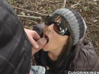 Blowjob Clothed Cumshot Hardcore Outdoor Swallow Wife