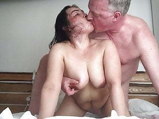 Old and Young Asian  Doggystyle Kissing British