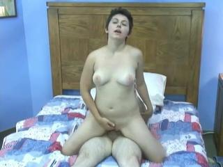Brunette Mature Older Riding