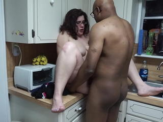 European Interracial Italian Kitchen Wife