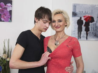 Amazing Family Mature Mom Old and Young Son Mother Taboo