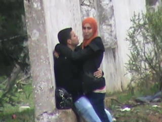 Arab Girlfriend Outdoor Public Teen