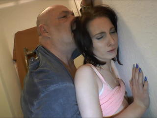 Brunette Daddy Daughter Family Old and Young Teen