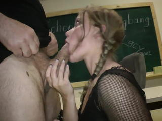 Amazing Blowjob Daddy Daughter Old and Young Pigtail School Teacher Teen