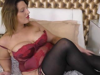 British European Lingerie Stockings Wife British Housewife
