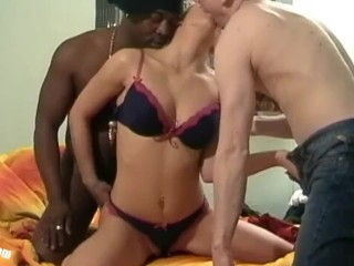 Amazing Casting Interracial Teen Threesome