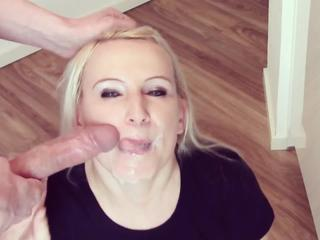 Cumshot Facial European German