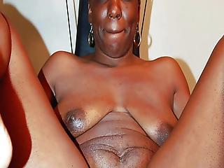 Amateur Ebony Mom  Wife