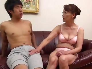 Asian Big Tits Family Japanese Mature Mom Old and Young