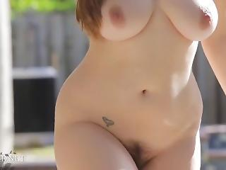 Chubby Outdoor Stripper Teen Bikini