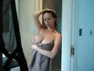 Amateur Big Tits Masturbating  Mom Natural Showers Caught