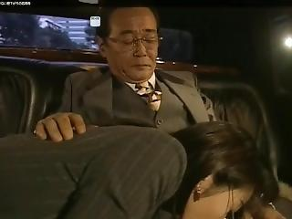 Car Secretary Asian Blowjob Boss
