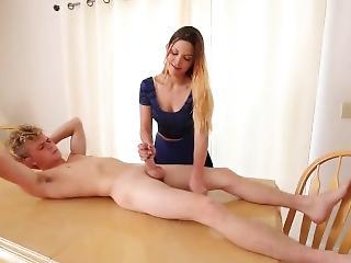 Amazing  Handjob Teacher Teen