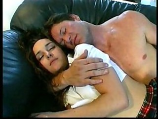 Daddy Daughter Family Old and Young Sleeping Teen