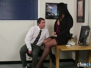 Babe Fetish Handjob Office Secretary