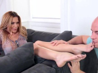 Amazing Babe Feet Fetish Legs Footjob