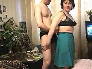 Amateur Family Mature Mom Old and Young Son Amateur