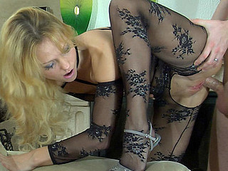 Amazing Doggystyle Fishnet Flexible Skinny Stockings Teen Foreplay