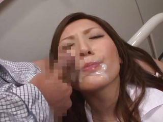 Asian Babe Bukkake Cumshot Facial Cute Fetish Japanese Nurse Uniform Kinky