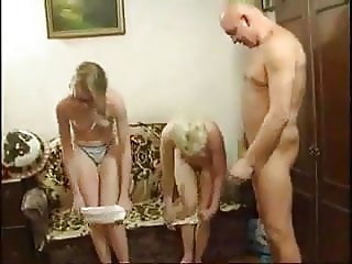 Daddy Daughter Family Mature Mom Old and Young Teen Family