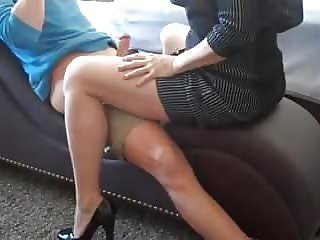 Family Legs  Mom Old and Young Son Mother