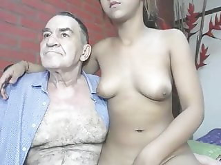 Daddy Daughter Older Old and Young Teen Grandpa