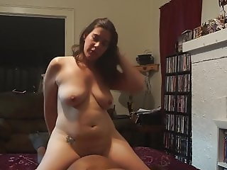 Chubby Cuckold Riding Wife