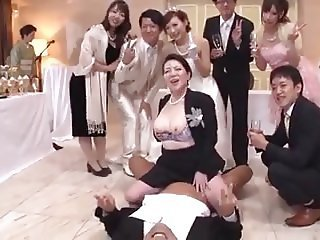Asian Bride Family Japanese Mature Old and Young Orgy Riding Family