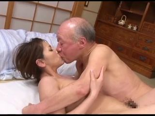 Asian Daddy Daughter Family Japanese Kissing Old and Young Teen