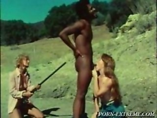 Blowjob Forced Interracial Outdoor Threesome Vintage