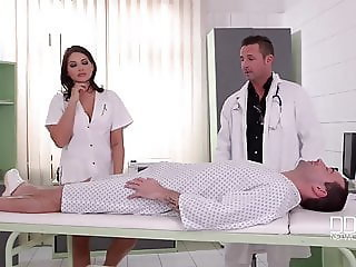 Amazing Doctor European French Nurse Teen Threesome Uniform French