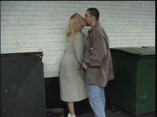 Kissing Mature Outdoor Caught