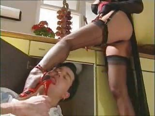Amazing Femdom Feet Fetish Legs  Stockings Foot