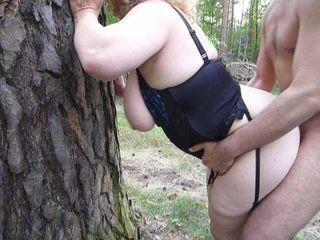 Amateur Corset Doggystyle Lingerie Outdoor Wife Outdoor