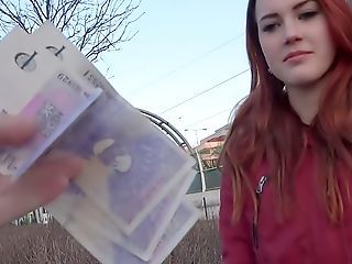 Amateur Cash Cute Redhead Teen